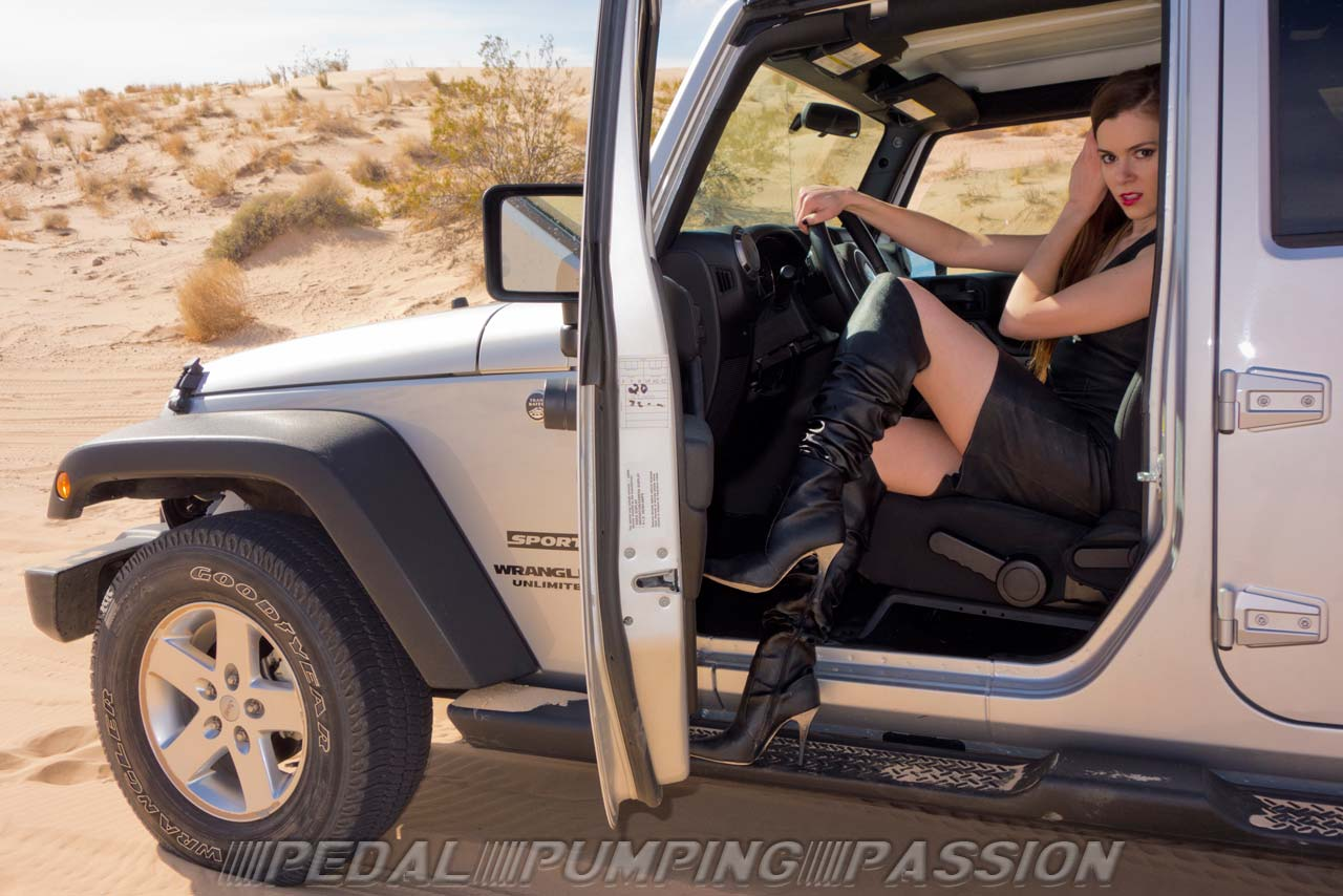 Women Spreading Their Legs Driving Their Cars