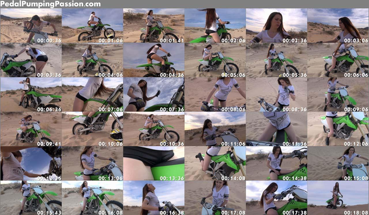 Gril orgasm on motorcycle Bad